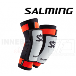 Salming Goalie Kneepads E-Series - white/orange/black