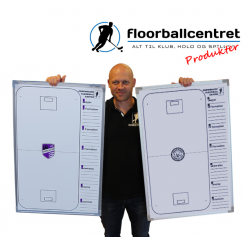 Whiteboard 55 x 88 - Floorball - incl. pen, magneter og klublogo