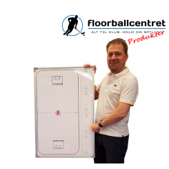 Whiteboard 55 x 88 - Multi bane - Floorball - incl. pen, magneter og klublogo