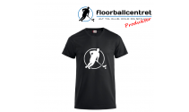 Floorballcentret T-shirt - Logo - sort m. hvid
