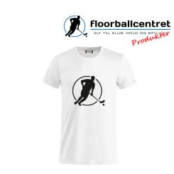 Floorballcentret T-shirt - Logo - hvid m. sort