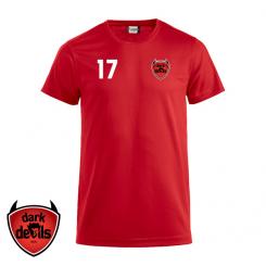 Trænings T-shirt - Mørke IF Dark Devils - ICE-T rød