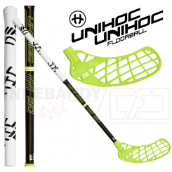 Unihoc Unity Composite 30 black/neon yellow - Floorballstav