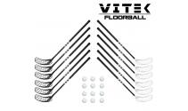 Vitek Exercise v.2 shiny Floorball Stavsæt - 12 stave inkl. 12 bolde