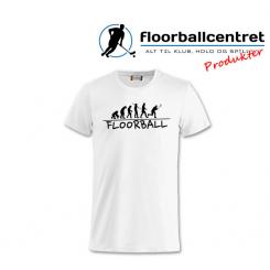 Floorballcentret T-shirt - Floorball Evolution - Hvid