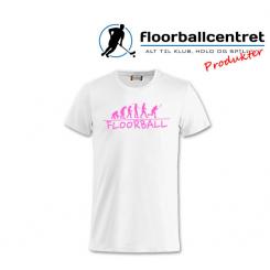 Floorballcentret T-shirt - Floorball Evolution - Hvid / Pink