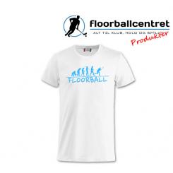 Floorballcentret T-shirt - Floorball Evolution - Hvid / Lyseblå