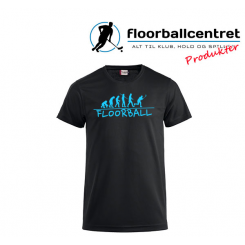 Floorballcentret T-shirt - Floorball Evolution - Sort / Lyseblå