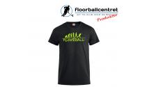Floorballcentret T-shirt - Floorball Evolution - Sort / Neongul