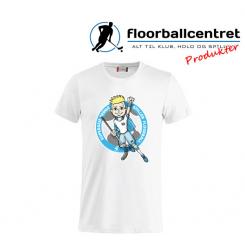 CFC T-shirt - Superseje Drenge Spiller Floorball - Hvid