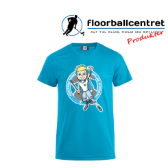 CFC T-shirt - Superseje Drenge Spiller Floorball - Turkis