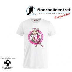 CFC T-shirt - Superseje Piger Spiller Floorball - Hvid