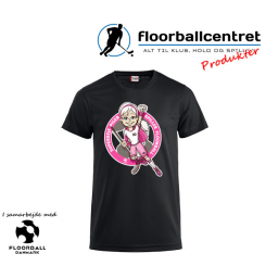 CFC T-shirt - Superseje Piger Spiller Floorball - Sort