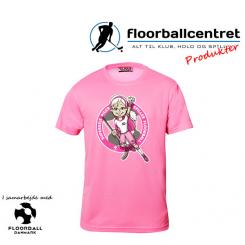 CFC T-shirt - Superseje Piger Spiller Floorball - Pink
