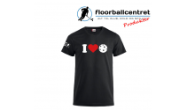 Floorballcentret T-shirt - I LOVE FLOORBALL - Sort