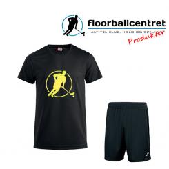 Floorballcentret Spillesæt - Sort / Neon Gul