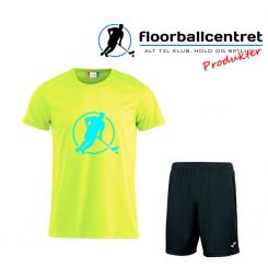 Floorballcentret Spillesæt - Blå / Neon Gul