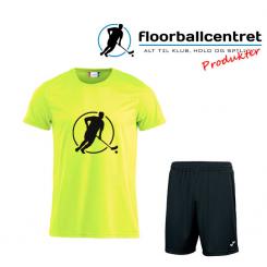 Floorballcentret Spillesæt - Neon Gul
