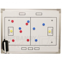 Whiteboard 60 x 45 - Floorball Taktiktavle - incl. pen og magneter