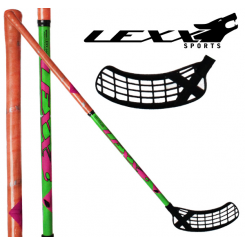 Lexx Black Wolf 32 - Floorballstave - Grøn/Orange