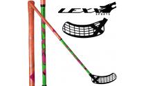 Lexx Black Wolf 32 - Floorballstave - Grøn/Orange