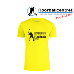 Floorballcentret T-shirt - Life Is Simple - gul