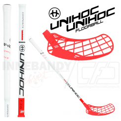 Unihoc Epic Youngster Composite 36 white/red - Floorballstav