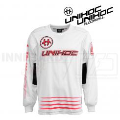 Unihoc Inferno Målmandstrøje - white/neon red