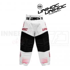 Unihoc Målmandsbukser Inferno - white/neon red