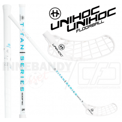 Unihoc Iconic Titan Straight Edge 29 white - Floorballstav