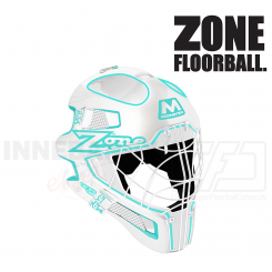 Zone Goalie Mask Monster Cat Eye Cage - white/turquoise