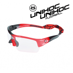 Unihoc Victory Eyewear Jr black / neon red