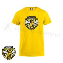 Offcourt T-shirt - Skanderborg Killerbees - Fashion-T gul