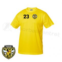 Trænings T-shirt - Skanderborg Killerbees - ICE-T gul