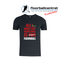 Floorballcentret T-shirt - All i want for Christmas - Bomuld