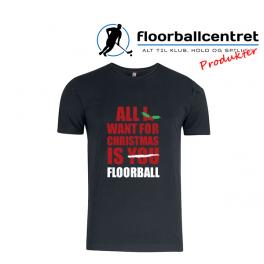 Floorballcentret T-shirt - All i want for Christmas - Bomuld