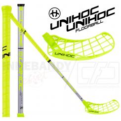 Unihoc Epic Composite 32 neon yellow/silver - Floorballstav