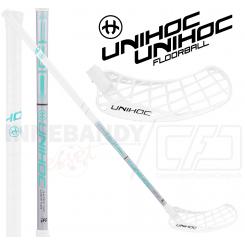 Unihoc Epic Super Top Light 29 white/turquoise - Floorballstav