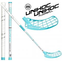 Unihoc Epic Curve 2.0° 26 white/turquoise - Floorballstav