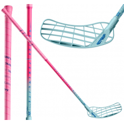 Salming Raptor Powerlite Aero 27 - Floorballstav - magenta/skyblue