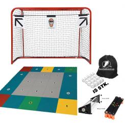 Hjemmetræningspakke - Mål, Target, Skill Zone Gulv, Skiller, Saucer, 15 bolde og Boldpose
