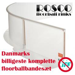 Rosco Floorball Bander - ECONOMY - Fullsize bane 20x40 meter, hvid - Prismatch ✰