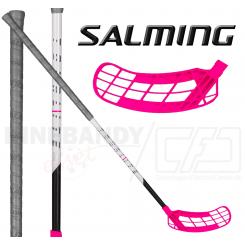 Salming Q1 TourLite Aero 27 - Floorballstav - grey / magenta