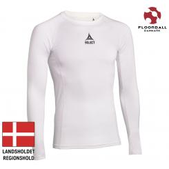 Baselayer Shirt L/S, hvid - Landshold Regionshold