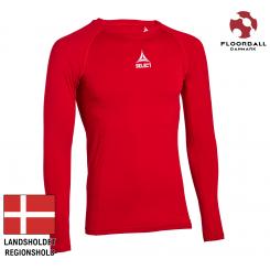 Baselayer Shirt L/S, rød - Landshold Regionshold