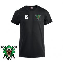 Opvarmnings T-shirt - Egedal Floorball Klub - ICE-T Sort