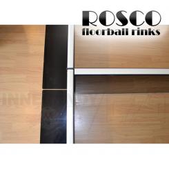Rosco Floorball Bande Stykker - Splitter Stykke 2m, sort