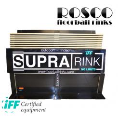 Rosco Floorball Bander - SUPRA - MotionsFloorball bane 10x20 meter, sort - IFF Godkendte
