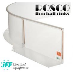 Rosco Floorball Bander - ACTIVE HEAVY - Fullsize bane 20x40 meter, hvid - IFF Godkendte