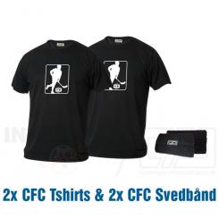CFC pakke - 2 T-shirts & 2 Svedbånd